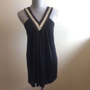 Dresses & Skirts - Black Dress with sequins details SZ SMALL